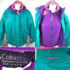 Vtg Columbia Bugaboo 3 in 1 Ski Parka Jacket USA.